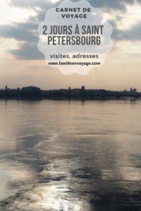 2 jours à saint petersbourg