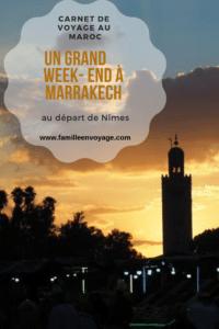 voyage à marrakech au départ de nimes