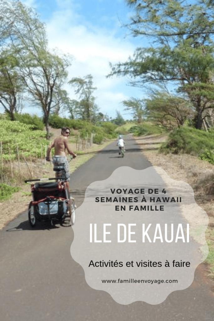 voyage en famille à Hawaii l'île de Kauai